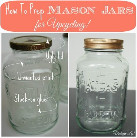 Tip for cleaning Mason Jars