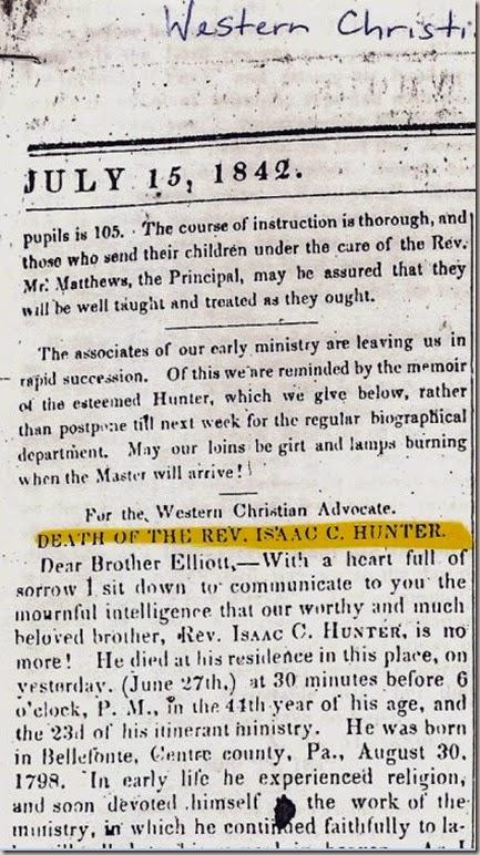 Hunter - western christ advocate