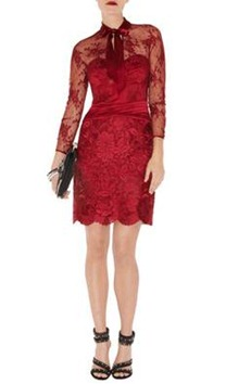 Karen Millen Long Sleeve Lace Dress1