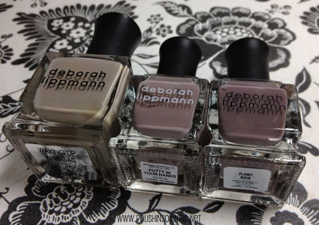Deborah Lippmann Waking Up in Vegas vs Putty in Your Hands vs Planet Rock