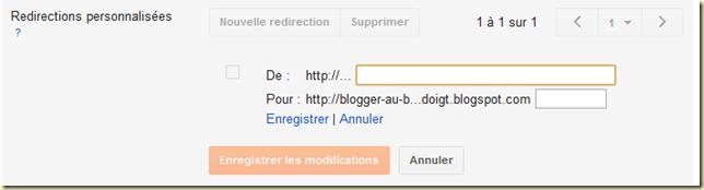 redirections personnalisées sur blogger blogspot