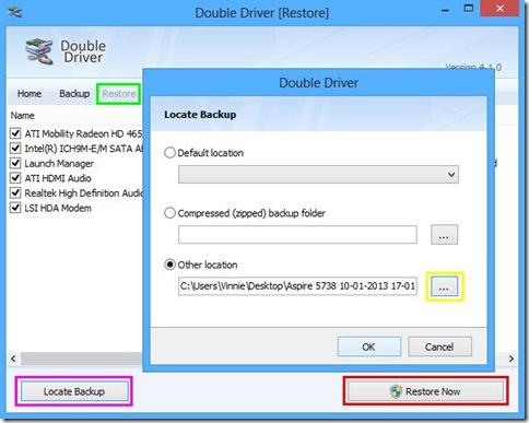 Double Driver ripristinare driver