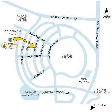 parque-espana-residence-hotel-map