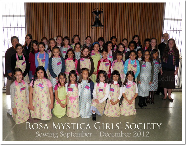 RMGS group photo with aprons 12.1.12 sewing WM