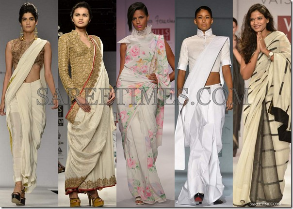WLIFW_Spring_Summer_2013_White_Sarees