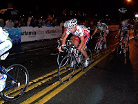 International bike race downtown