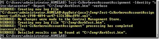 Lync Kerb - test command