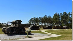 Tanks at the Outdoor Ordinance Exhibit