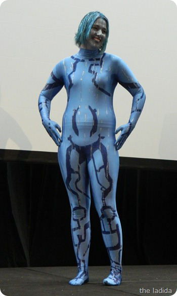 EB Expo Just 'Cos Cosplay Competition - Cortana from Halo