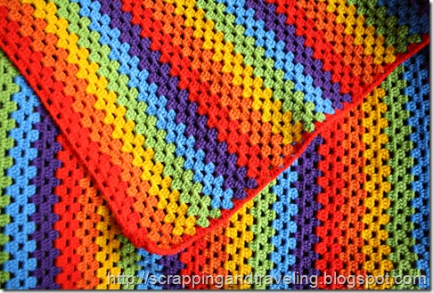 Crochet Rainbow Blanket 2