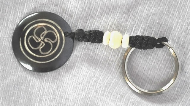 Water Buffalo bone Key Ring