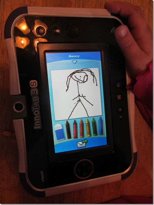 Draw pictures in Premium Kid Connect.