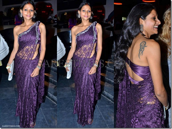 Purple_Designer_Georgette_Saree
