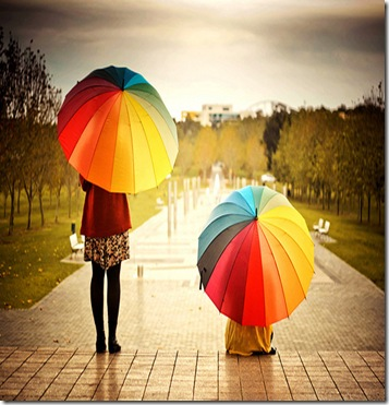 rainbow-umbrellas