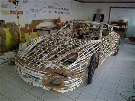 Porsche Car made from a Bicycle 19