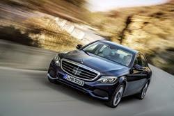 Mercedes-Benz C 300 BlueTEC HYBRID, Exclusive Line, Cavansitblau metallic, Leder ARTICO<br />Kristallgrau/Tiefseeblau, Zierelemente Holz Linde linestructure, (W205),<br />2013