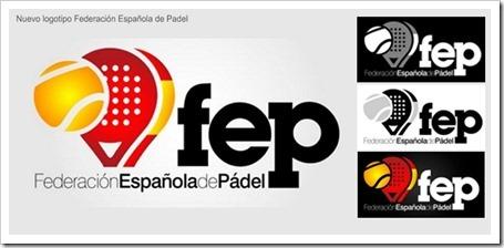 La Federación Española de Pádel FEP ya tiene oficialmente nuevo logotipo.