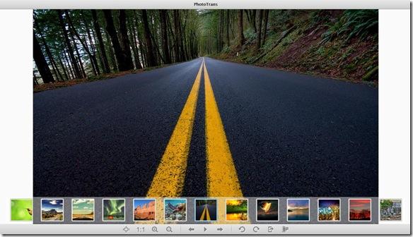 PhotoTrans visualizzatore delle immagini