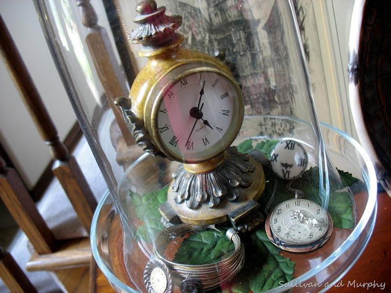 clock cloche