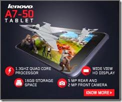 Flipkart offer: Buy Lenovo A7-50 Tablet at Rs.12499