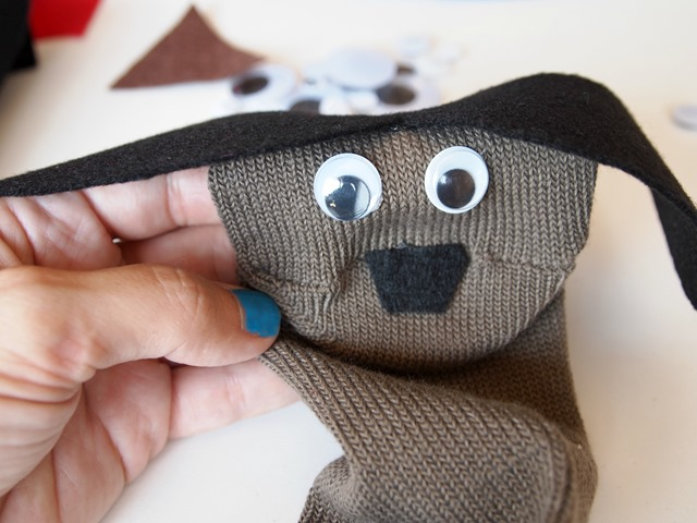 puppy sock puppet for Super Buddies
