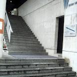 the stairs at nishi shinjuku hotel in Shinjuku, Tokyo, Japan