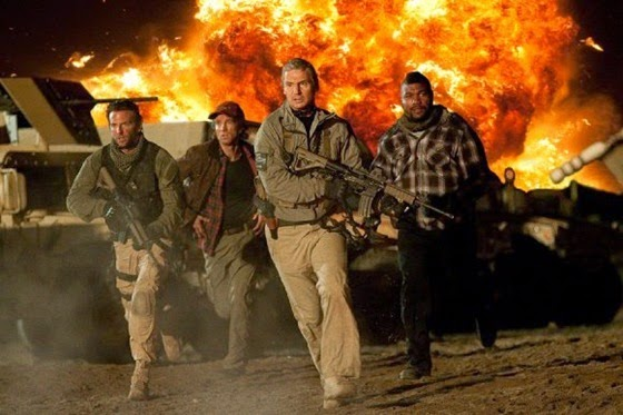 Liam Neeson, Bradley Cooper, Sharlto Copley, Quinton 'Rampage' Jackson in The A-Team