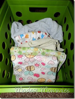 Cloth Diapering - Pad Covers Container