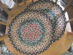 braided 2 round chair mats yard sale find 2012