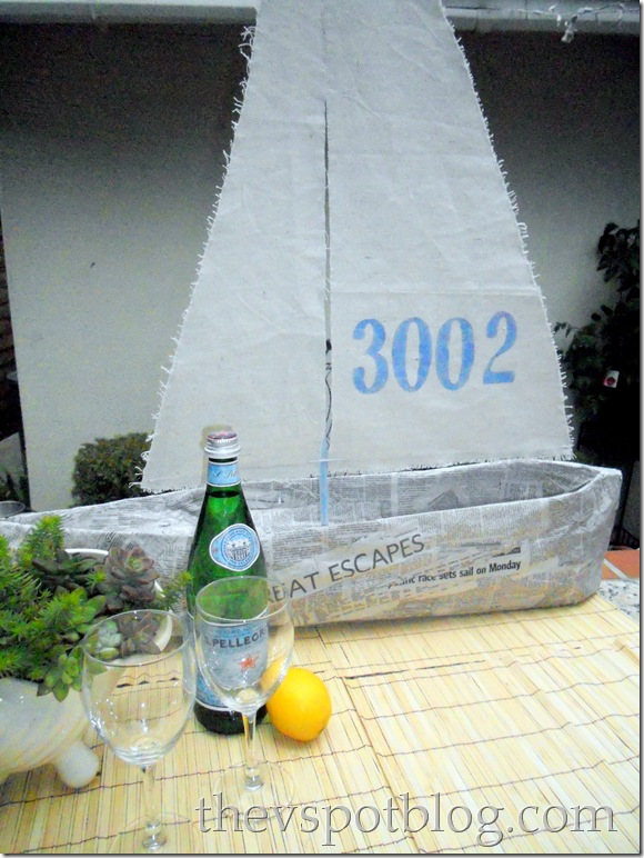 newspaper, sailboat, DIY