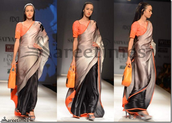Satya_Paul_Black_Grey_Half_and_Half_Saree