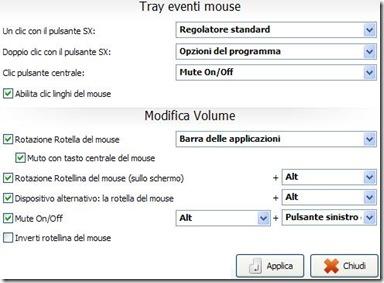 Volume2 settare i tasti del mouse per controllare il volume del PC