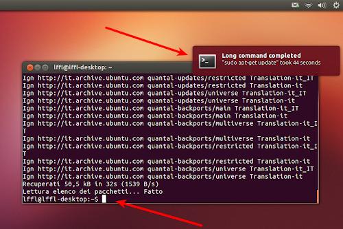 undistract-me su Ubuntu