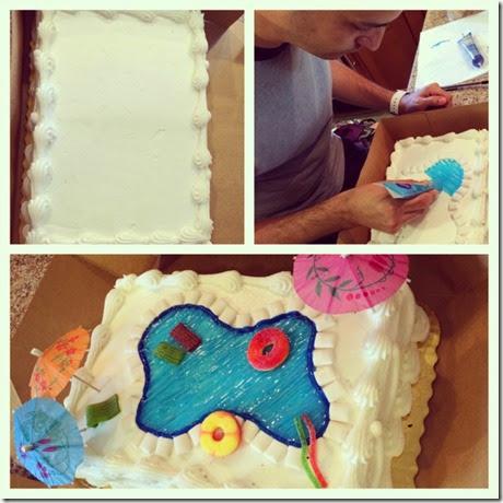 pool cake diy
