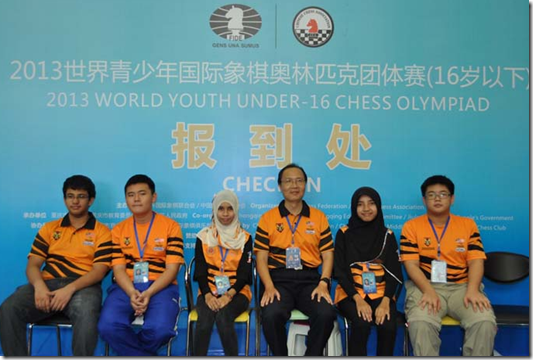 Malaysia U-16 Youth Chess Team