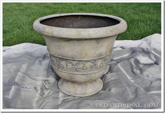 fiberglass pot before