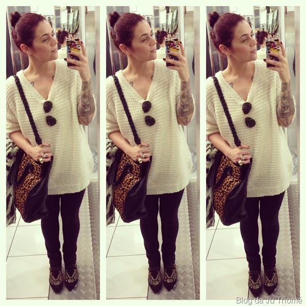 look com legging, blusão de lã e botinha com tachas (2)