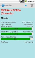 Screenshot of Spain Snow Report