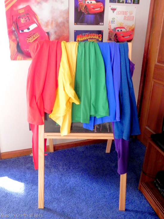hanging tshirt capes