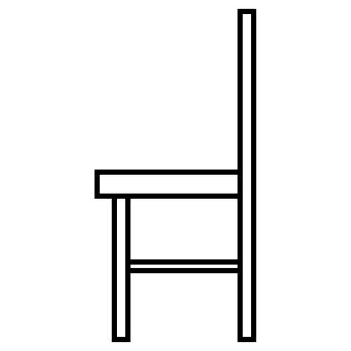 dibujo de silla para pintar