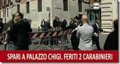 Atentado - durante o juramento do governo italiano - à porta do palácio Chigi.Abr.2013