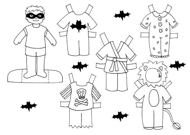 Recortables de muñecas para Halloween - Actividades para niños ...