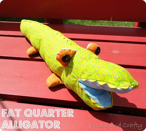 Fat Quarter Alligator