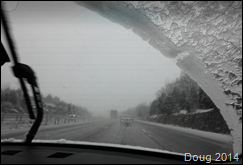 Snowing on I44