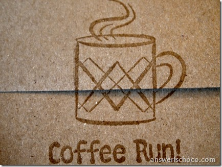 Coffee Run envelope