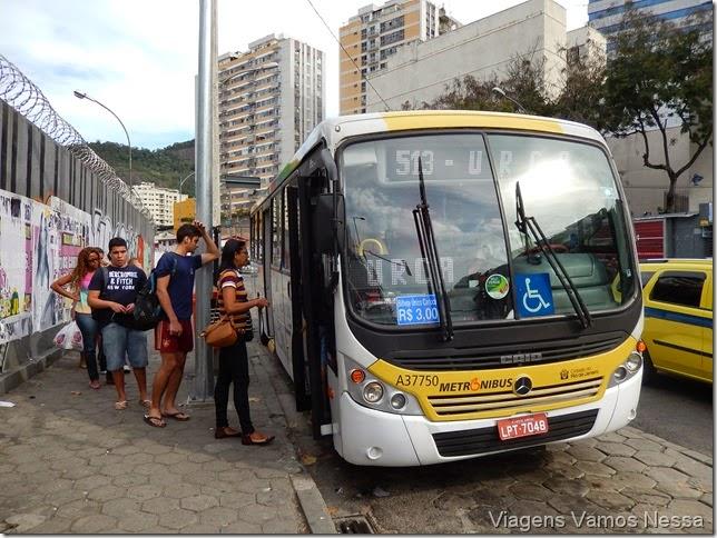 Ponto de parada do Ônibus 513 - Linha Urca x Botafogo