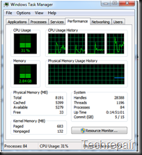 Windows Task Manager - Performance