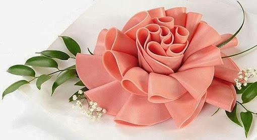 Роза из ветчины