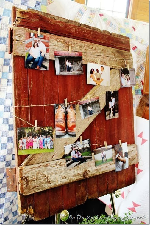 barn door picture frame