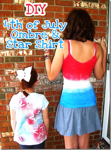 DIY 4th of July Ombre and Star Shirt